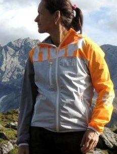 Funktionsjacke Freeride Orange Grey