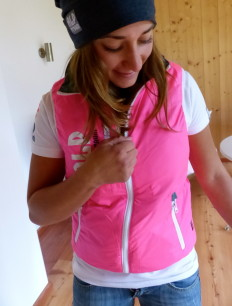 Primaloft Weste Pink Grey