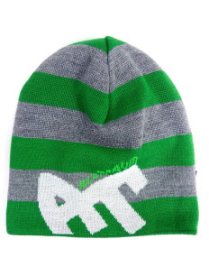 Beanie Blockstripe Sock Green Grey