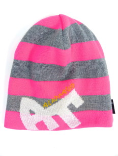 Beanie Blockstripe Sock Grey Pink