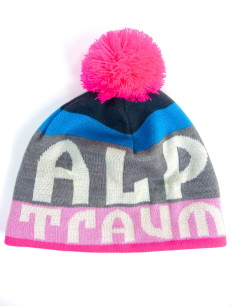 Beanie Lucky Pink Grey