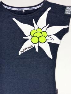 Woman T-Shirt Edelweiß Navy