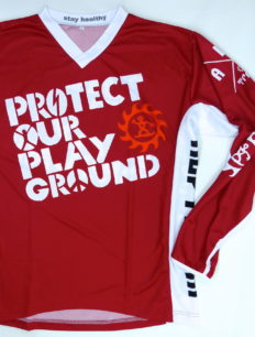 Freeride Trikot Langarm Protect Red