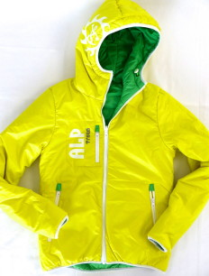 Woman Primaloft Jacke Green Yellow