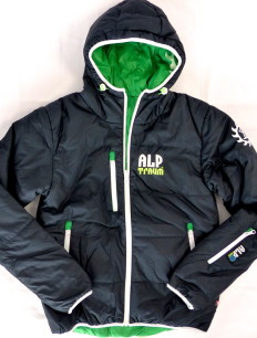 Men Primaloft Jacke Black Green