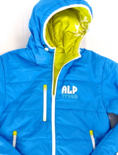 Men Primaloft Jacke Blue Yellow