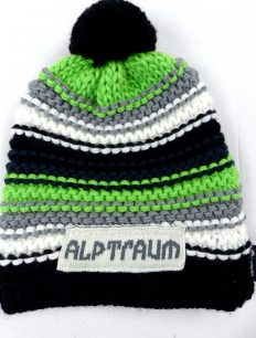 Beanie Joy Phat Black Green Grey