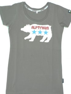 Woman T-Shirt Baer Grey