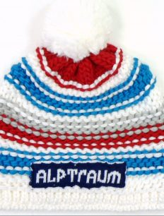 Beanie Joy Phat White Blue Red