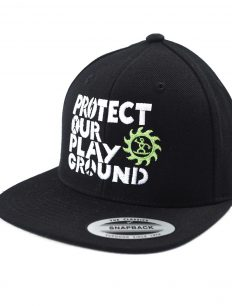 Snapback Cap Protect Black White