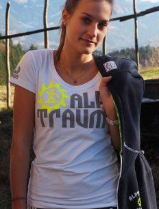Women T-Shirt Trail White