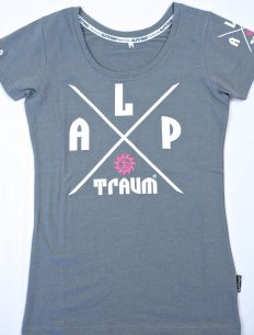 Women T-Shirt Adventure Grey