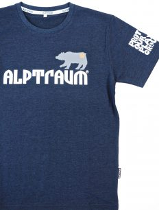 Men T-Shirt Bear Navy