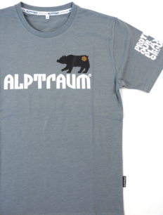 Men T-Shirt Bear Grey