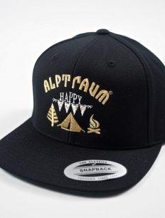 Snapback Cap Happy Black