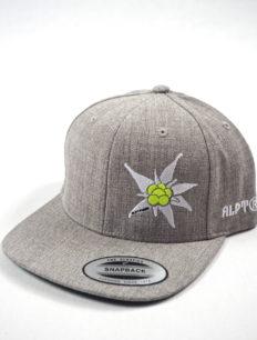 Snapback Cap Edelweiß Grey Neon Yellow