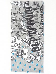 Headband Grafitti Grey