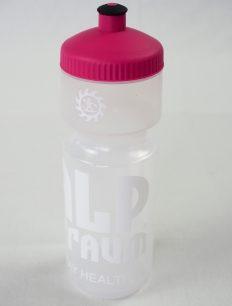 Radflasche Transparent Pink