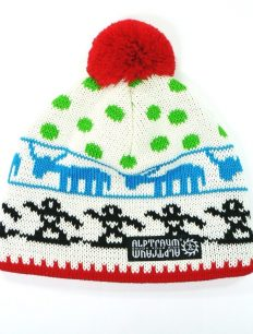 Beanie Alpland White Red