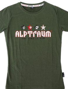 Woman T-Shirt Stars Olive