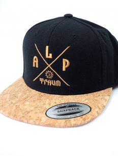 Snapback Cap Adventure Cork Black