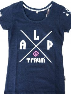 Woman T-Shirt Adventure Navy
