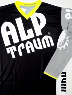 Freeride Trikot Langarm HiFi Black Grey