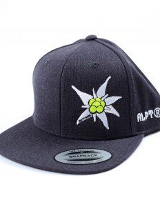 snapback cap edelweiss darkgrey