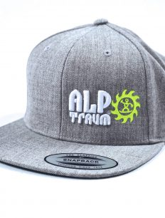 snapback cap straight 3D grey