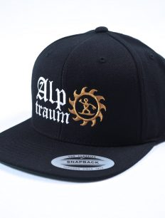 snapback cap old english black