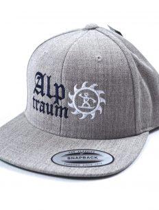 snapback cap old english grey-blue