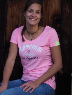 Woman T-Shirt SUNSET rosa