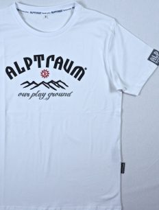 Men T-Shirt SUNSET white