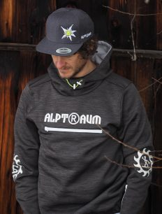 Funktions Hoodie RIDER darkgray snapbackcap EDELWEISS