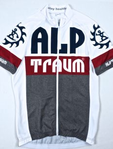 trikot Race grey-red-white
