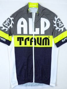 trikot Race navy-yellow-grey