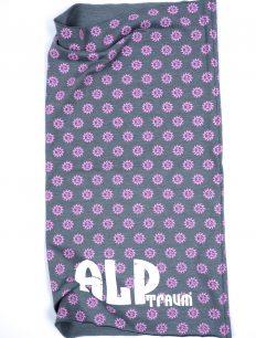 tube logo cotton-elasthan steingrau-lila