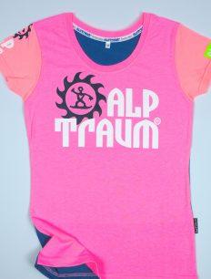 woman t-shirt TRAIL 3-color candy peach ensigna
