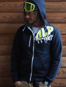 Men Sweatjacke HiFi navy-neonyellow