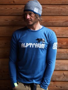 Men Longsleeve Bear ensigniablue