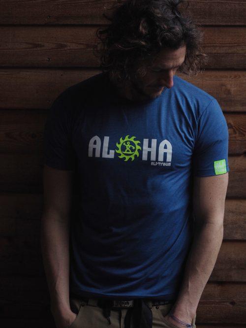 Attraktiva men funktions t-shirt ALOHA   Alptraum UO-27