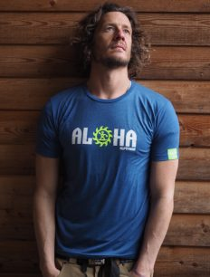 Men T-Shirt Aloha ensigniablue