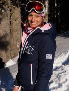 Woman Primaloft X navy-rosa Headband Tube paille pink